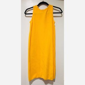 Zara Knit Yellow Dress